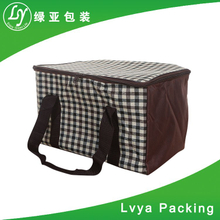 Large picnic disposable can insulated cooler bag / non woven lunch cooler bag