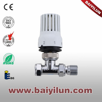 Thermostatic red copper pipe straight valve,radaitor thermostatic valve