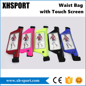 Waterproof Reflective Sports Climbing/Running Belt Waist Bag with Touch Screen