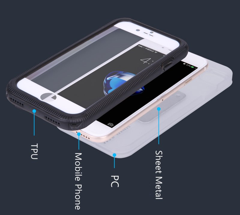 with Hanging Hole Popular Waterproof Mobile/Cell Phone Case for iPhone 7