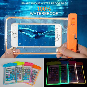 Luminous Waterproof Cell Phone Bag up to 5.5inch