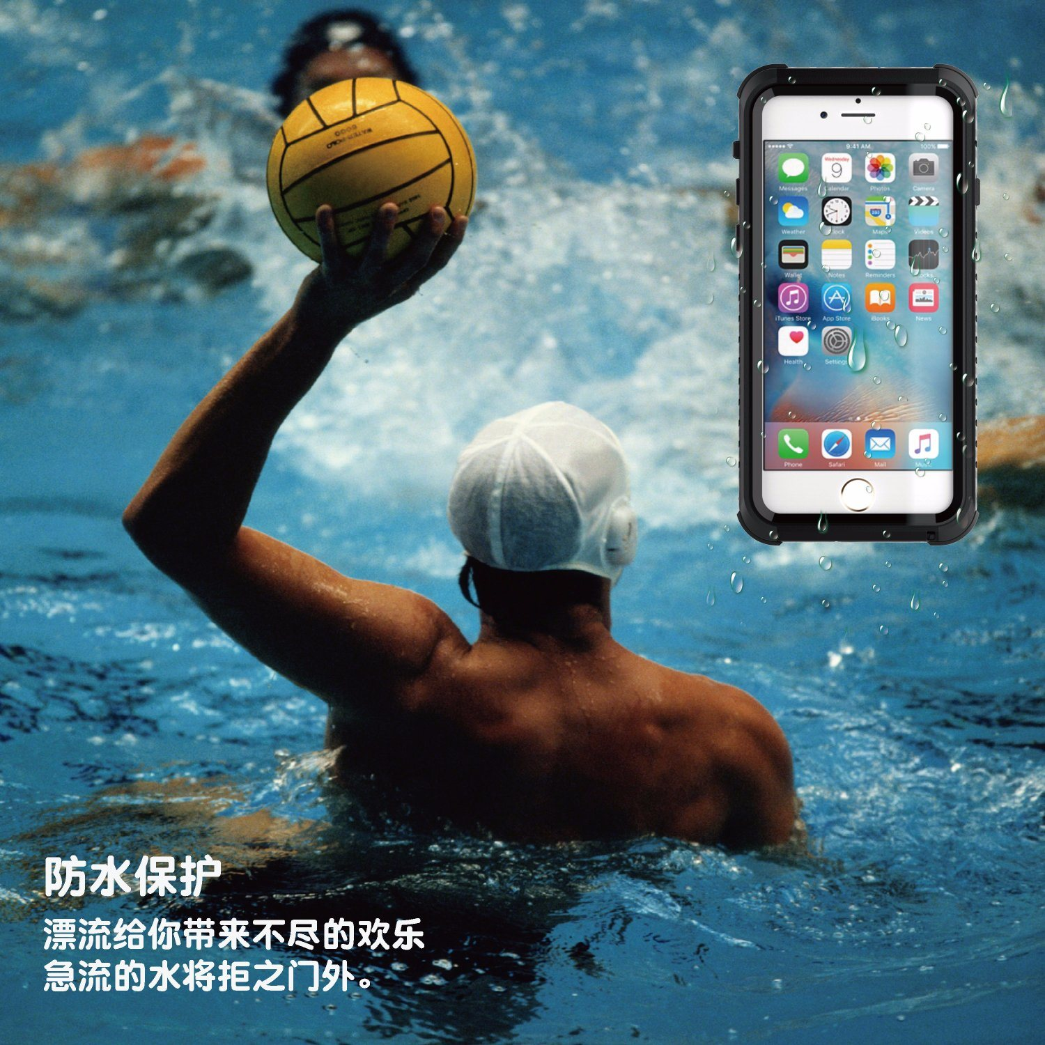 New Waterproof Two Ways to Use Mobile/Cell Phone Case for iPhone 6plus