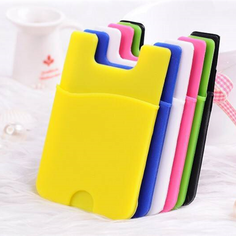 Hot Adhesive Back Sticky Universal Silicone Card Holder Smart Phone Card Porch Bank Card Holder