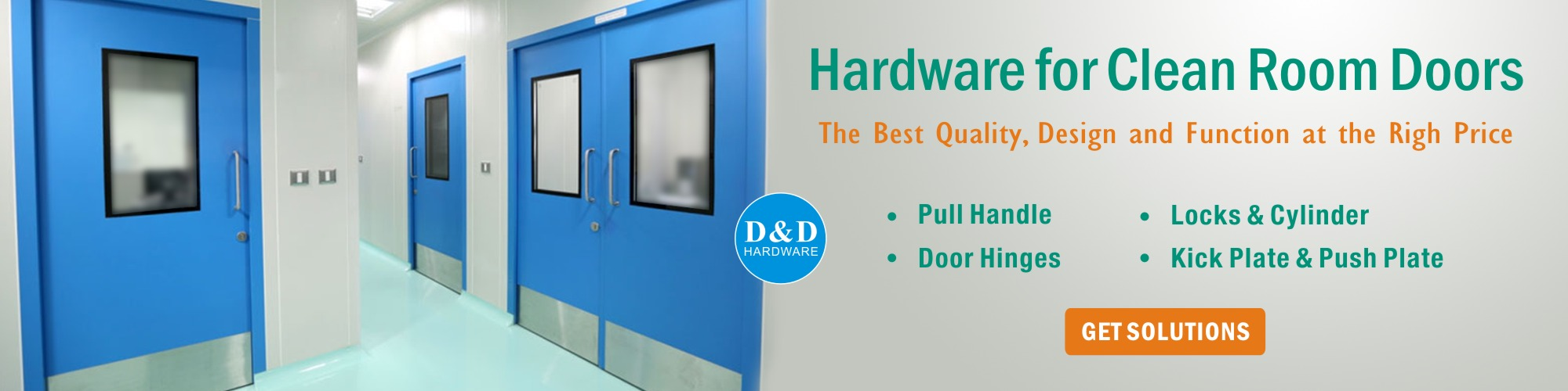 Door Hardware for Clean Room Doors D&D Hardware