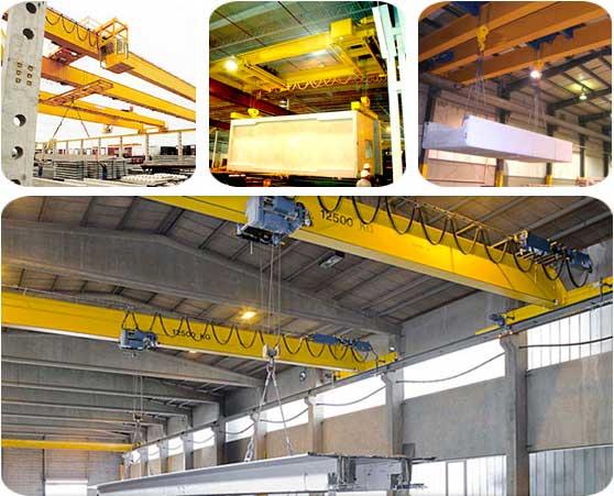 Мостовые краны для индустрии строительного материала