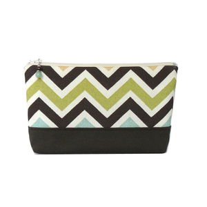 Personalized chevron makeup bag