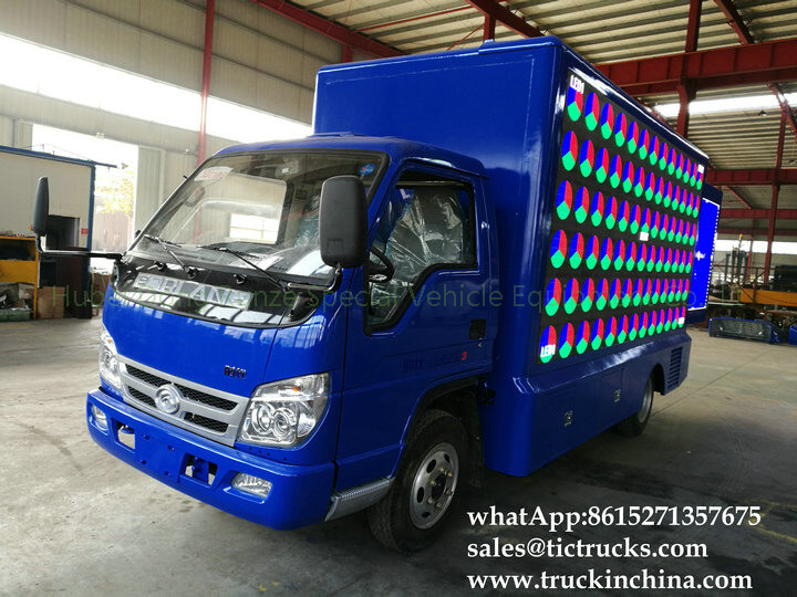 Foton 4x2 LED stage truck-18-factory-LED advertise truck