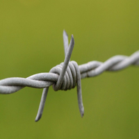 Galvanized Steel Security Fence Barbed Wire Fence