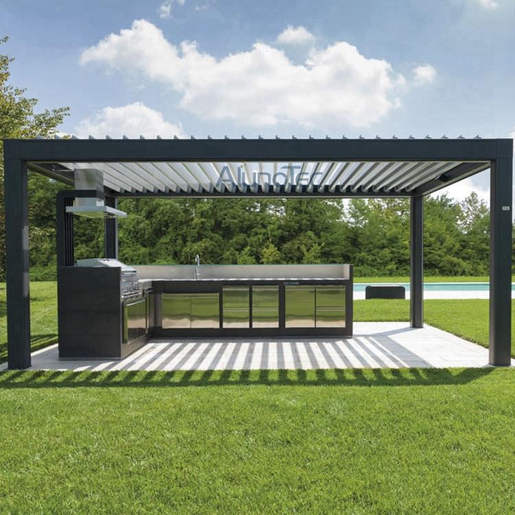 alunotec aluminum patio louver roof pergulas buy patio louver roof pergulas aluminum louver. Black Bedroom Furniture Sets. Home Design Ideas