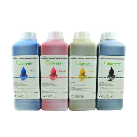6Colors/set Large Format Printer Inks Eco Solvent Ink in Bottle for Roland/Mimaki/Mutoh 1000ml (CMYK LC LM)