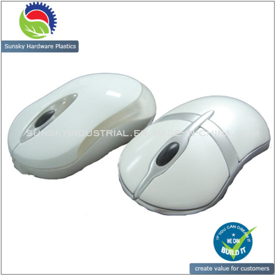 High Gloss CNC Milling Rapid Plastic Prototype for Mouse (PR10071)