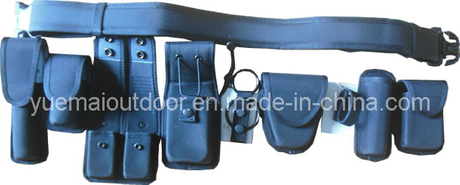 Police Security Duty Belt Set with Multifunctional Pouch