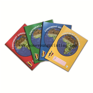 Continent Africain staple binding assorted color seyes exercise book cahier 100 200 pages