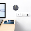 Surge Protector 8 Outlets 2 Smart USB Ports White
