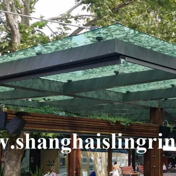 Street canopy outdoor glass shelters