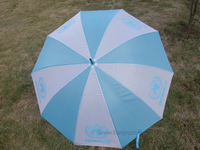 United Nation Promotional Gift Polyester Straight Umbrella