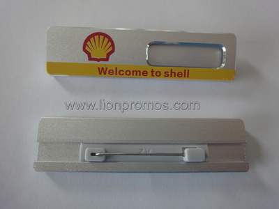 Shell Logo Aluminum Alloy Staff Name Badge