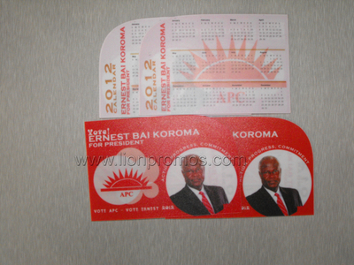 Presidential Voting Camaign Event Promotional Gifts PVC Card Calenar