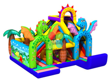 RB03013(7x6.5x5.5m) Inflatable New Design Dragon Theme Obstacle Course Funcity
