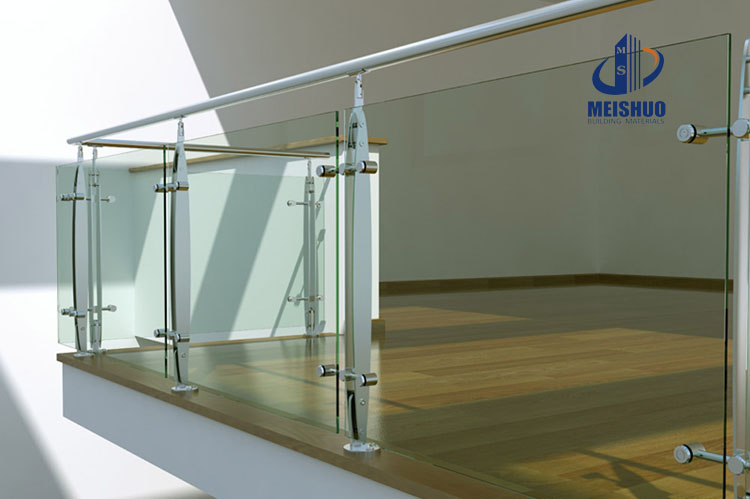 Satin Finish Stainless Steel Stair Handrail