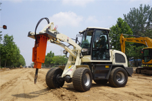 CE 1000kg small wheel loader zl08 with broken hammer,front end loader