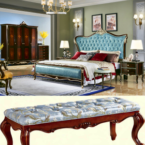 8801 Wood Bed with Dresser Table for Bedroom Furniture