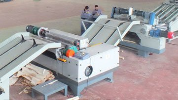 4 Feet Wood Veneer Rotary Peeling Lathe Fully Automatic Unmanned Operating
