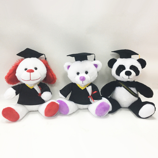 OEM custom stuffed plush graduation animal graduation teddy bears