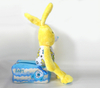 Adorable Easter Soft Plush Stuffed Yellow Rabbit with Tissue Box