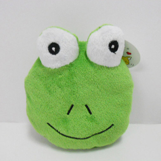 Cute Soft Plush Frog Shaped Coin Purse for Kids