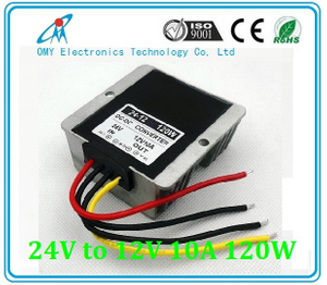24V boost to 12V 10A 120W step down Aluminum alloy shell IP65 waterproof dc dc converter power converter