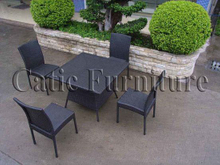 Rattan Dining Chair and Table (GS347)