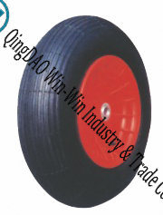 "Wheelbarrow Wheels with Plastic Rim 14""X3.50-8"