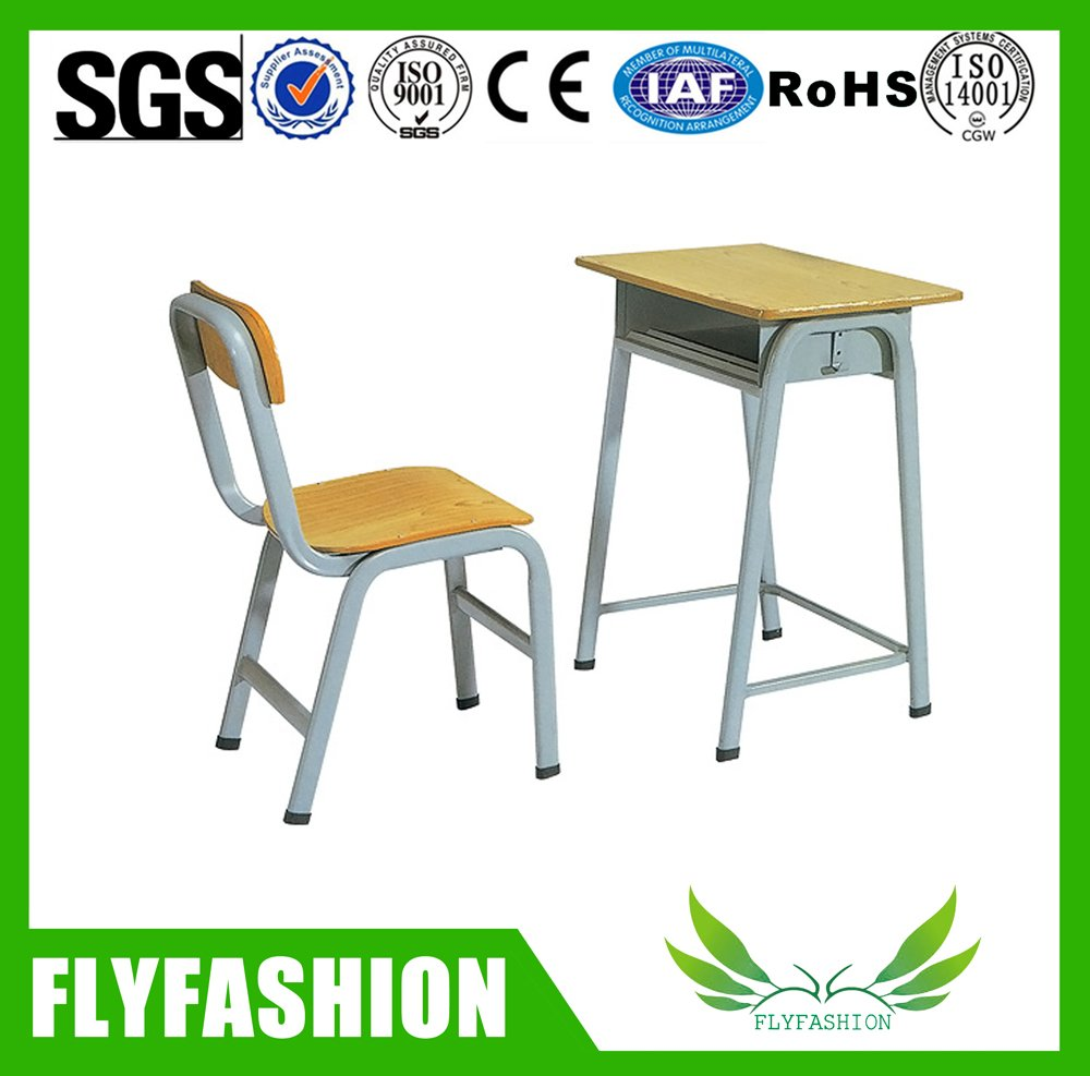 School Furniture High Quality Single School Desk And Chair(SF 81S)