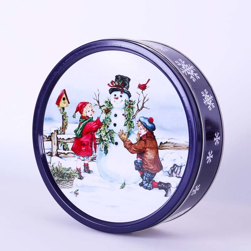 Chirstmas 340g Round Tin Can Danish Butter Cookie