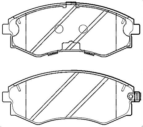 Brake pad for HYUNDAY