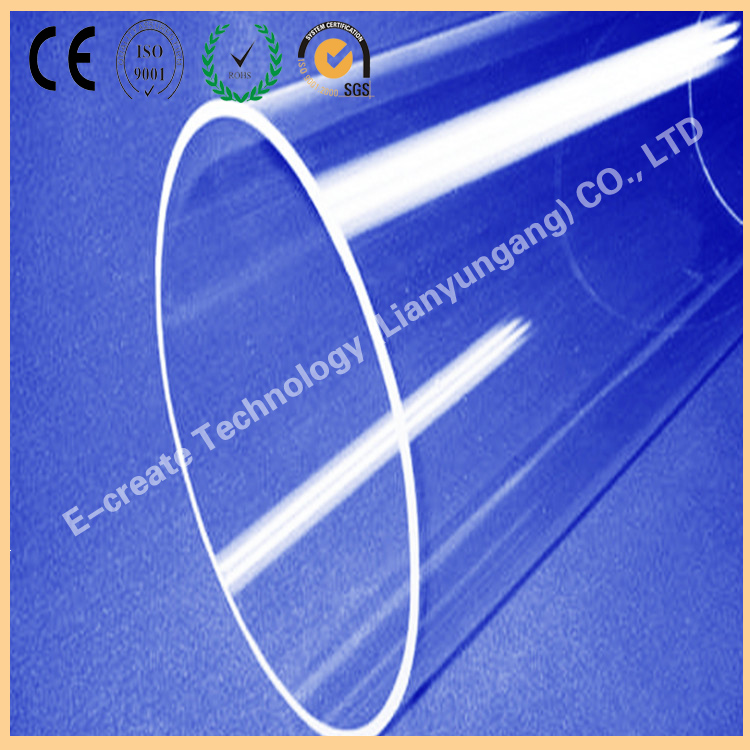 Photovoltaic industry Large diameter quartz tube 310mm