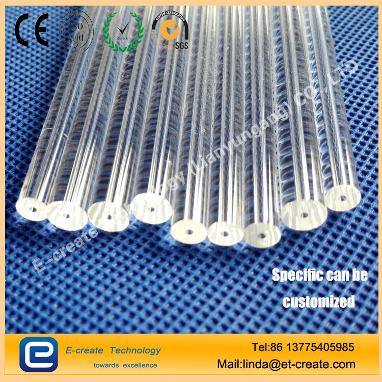High temperature resistant high-pressure thick-walled quartz tube