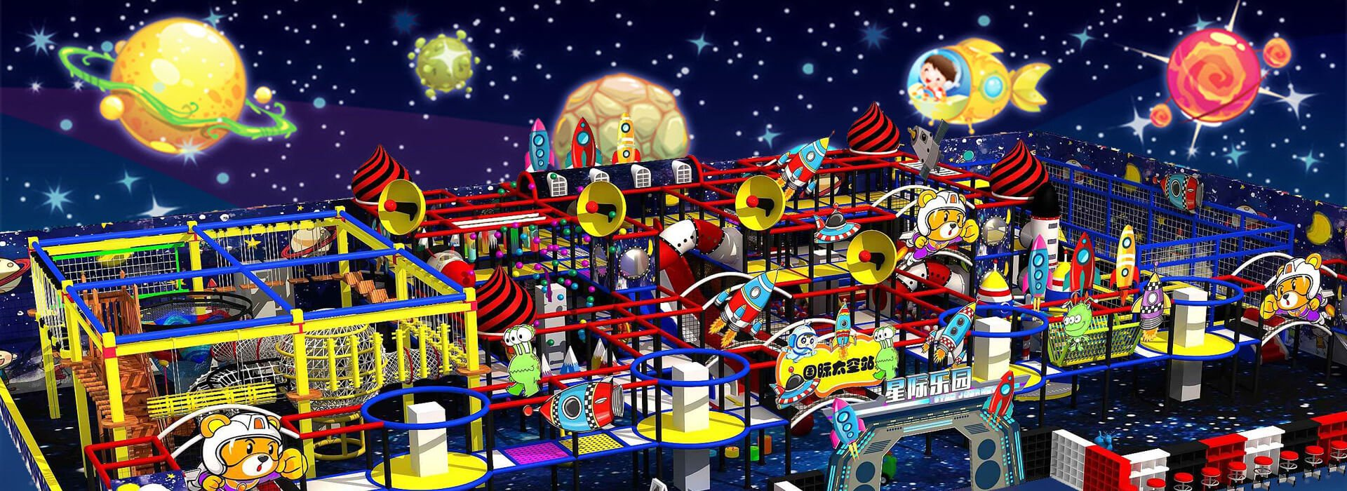 Customized Space Theme Soft Indoor Playground