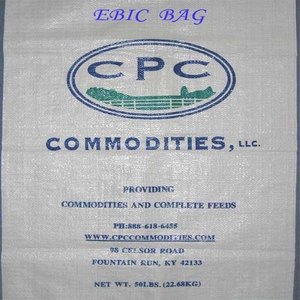 Animal feed woven bag