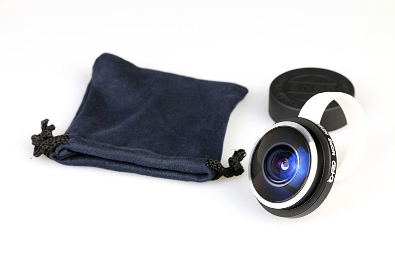 Universal Ring Clip-on Mobile Phone Lens 235 Degree Fish Eye Lens Camera Lens