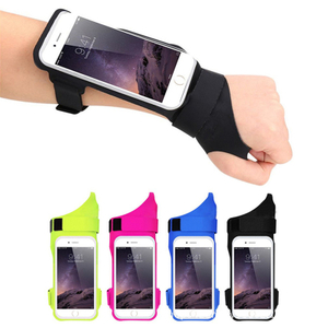 Hot Selling Sports Finger Armband Running Reflective Armbands for Mobile Phone Accessories Adjustable Gym Armband