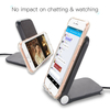 Hot Selling QI Wireless Charger with Flexible Cable for IPhone Desktop Universal Wireless Fast Charger for Samsung with LED Light