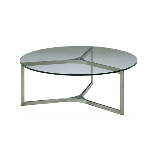 Small Round Transparent Fiber Glass Coffee Table