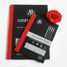 Counter book manuscript book thread sewn