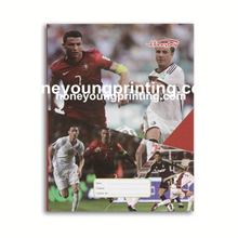 Football star student seyes french lined exercise book