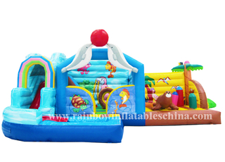 RB3007 (8x5m) Inflatables Kids Bouncy Sea World Animals Bouncer Castle