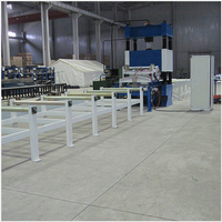 Steel frame press welder production line