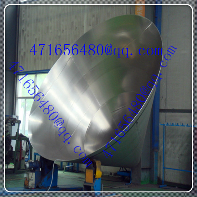 polished stainless steel Conical Tank Head