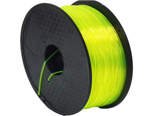 1.75mm/3.0mm 1kg Spool Transparent Yellow Color PLA 3D Printer Filament